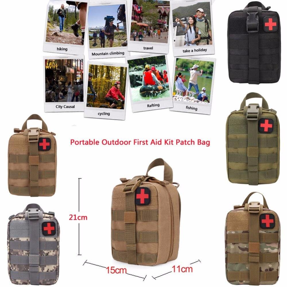 Kit de primeros auxilios para acampada, deportes al aire libre, Kit de supervivencia táctica Molle Rip-Away EMT Bag IFAK bolsa para la cintura de médico