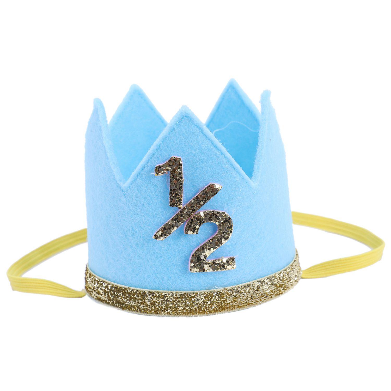 Accesorio para el cabello FBIL, recién nacido, Infante, niña, niño, mitad de 1/2, primer segundo, tercer cumpleaños, corona, fiesta, pastel, Smash