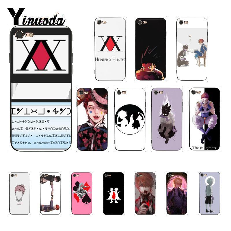Yinuoda hunter x hunter hxh anime personalizado foto caso de telefone macio para iphone 8 7 6 s plus x xs max 5 5S se xr capa