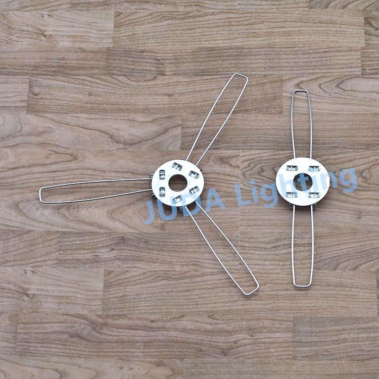 Capa da lâmpada sombra suporte e27 suporte da lâmpada clipes m10 buraco 2 garfos 3 garfos suporte para lustres led pingente luzes de teto