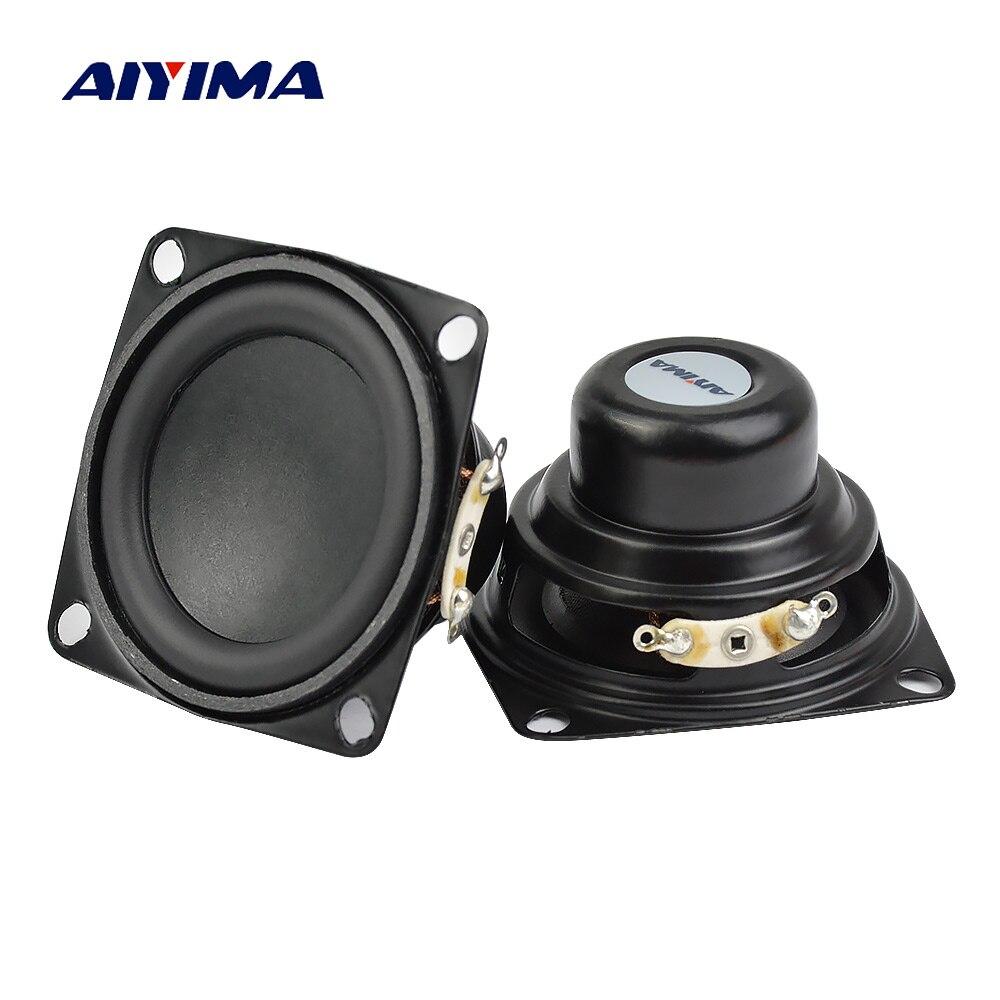 AIYIMA 2 uds 2 pulgadas altavoz de Audio 53MM 4 ohm 10W Gama Completa altavoces Bass Multimedia altavoz para Audio DIY