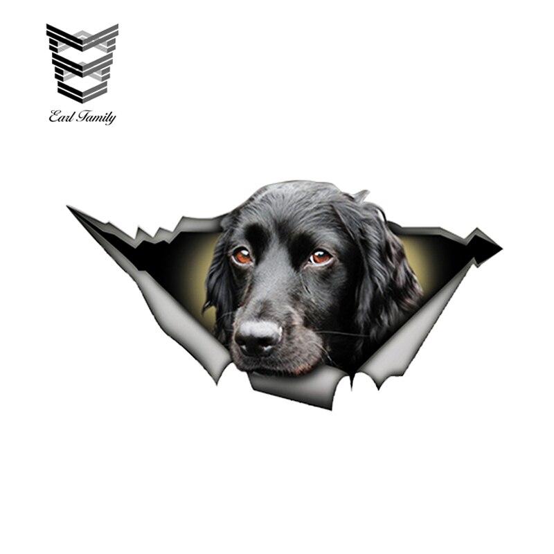 EARLFAMILY 13 см x 6,8 см черный кокер-спаниель Автомобильная наклейка рваная металлическая наклейка Светоотражающая наклейка s водонепроницаемый автомобильный Стайлинг наклейки для собак