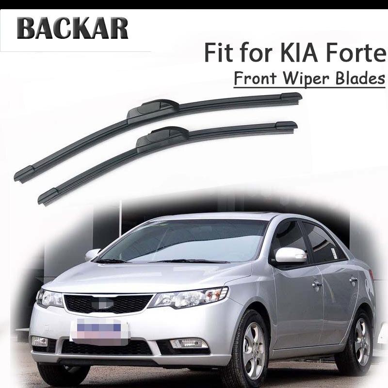 BACKAR 2 uds Auto frente escobillas de goma para parabrisas para Kia Forte 2018, 2017, 2016, 2015, 2014-2008