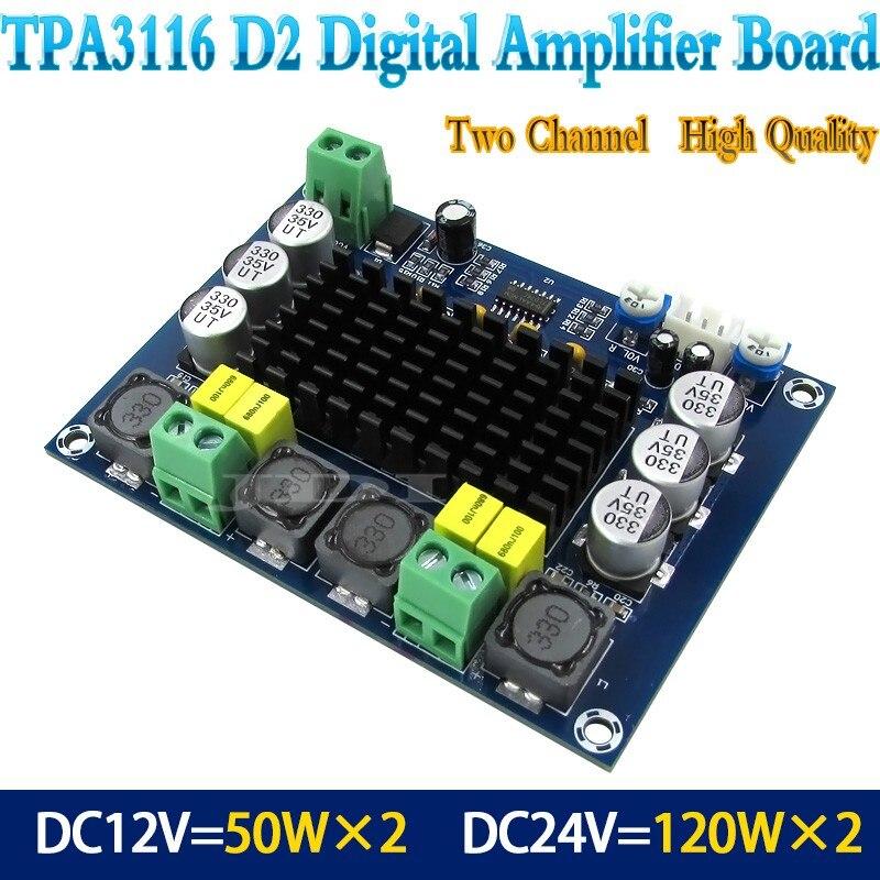 Новый TPA3116D2 двухканальный стерео высокой мощности цифровой аудио усилитель мощности плата 2*120 Вт