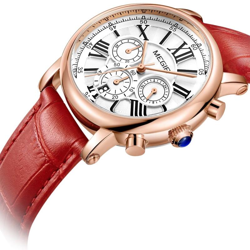 Fashion MEGIR Top Brand Women Gift Watches Luxury Ladies Quartz Watch Clock for Lovers Relogio Femin