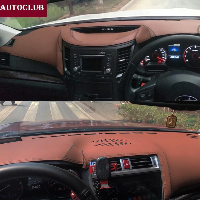 For Subaru Legacy outback 2010-2019 Leather Dashmat Dashboard Cover Pad Dash Mat Sunshade carpet   2011 2012 2013 2014 2015 2016