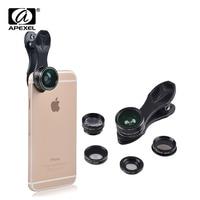 Apexel סיטונאי 10 יח'\חבילה אופטי עדשת עין דג רחבה זווית & מאקרו טלה CPL מסנן טלפון סלולרי מצלמה עדשה עבור סמסונג iPhone