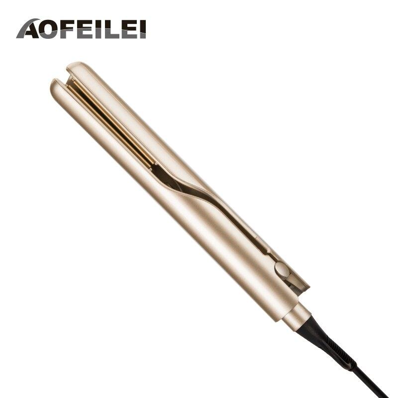 Plancha alisadora eléctrica profesional y rizadora de pelo 2 en 1 plancha alisadora de pelo plancha plana utensilios de peluquería de cerámica