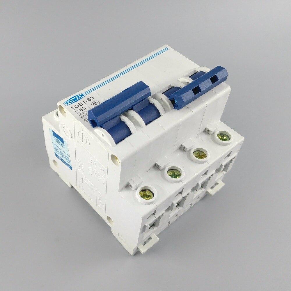 Interruptor de transferencia Manual de doble potencia 2P 63A MTS interruptor de circuito MCB 50 HZ/60 HZ 400 ~