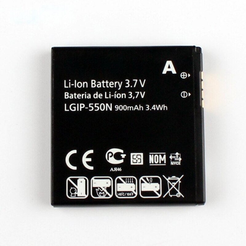 Original High Capacity LGIP-550N Battery for LG KV700 S310 GD510 GD880 mini 900mAh