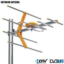 Цифровая ТВ антенна для HD TV DVBT/DVBT2, 470 МГц 860 МГц, уличная ТВ антенна, цифровая усиленная ТВ антенна HD