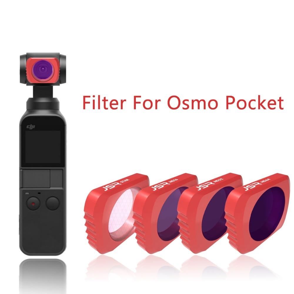 Filtro da Lente da Câmera para Dji Câmera de Bolso com 4 Osmo Cardan Estabilizador Handheld k 60fps Vídeo nd 4 8 16 32 64 uv Cpl 3-eixo