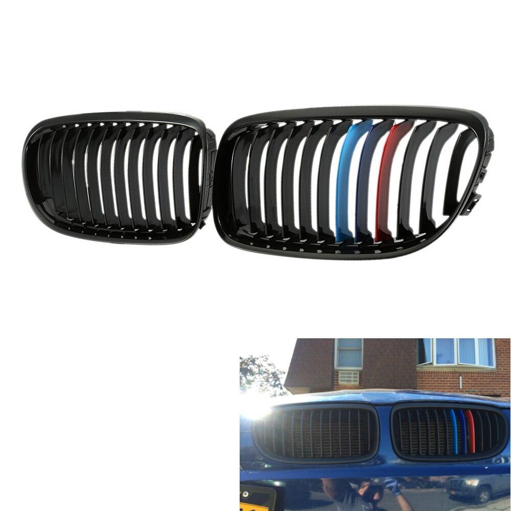 L & R avant brillant noir m-color calandre fit pour BMW E90 09-11 10 2011 remplacement