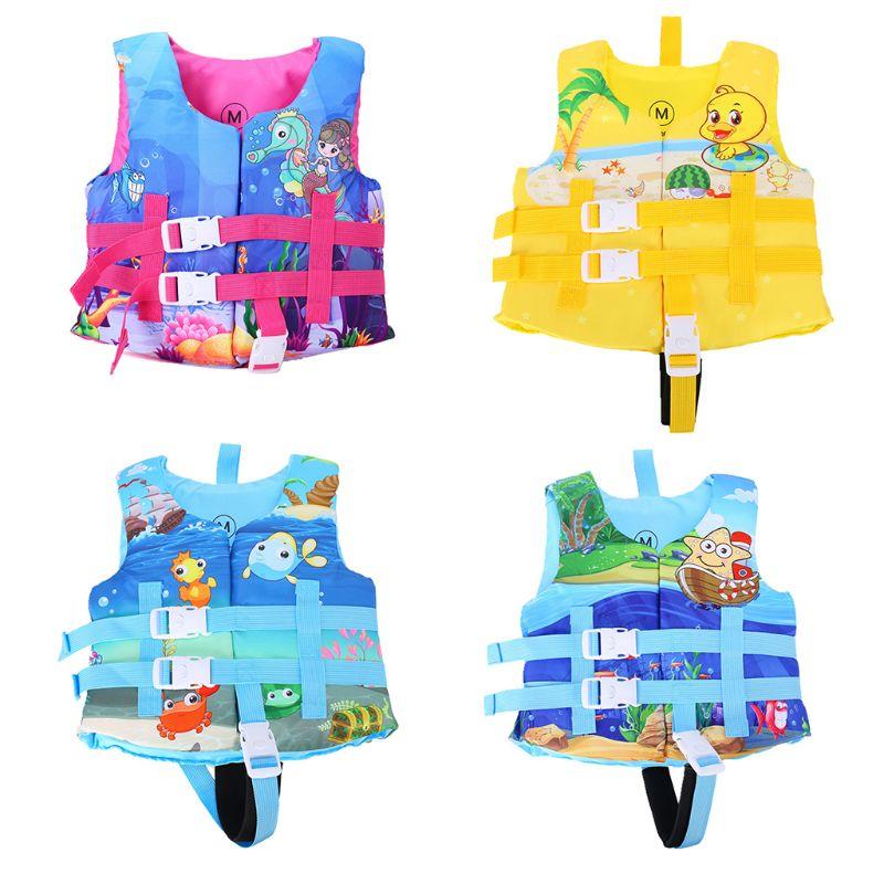 Chaleco de natación para bebé de chico pequeño, bonita chaqueta salvavidas de surf de estrellas de dibujos animados, traje de baño de espuma ajustable para Rafting 2-6T 30-50lbs