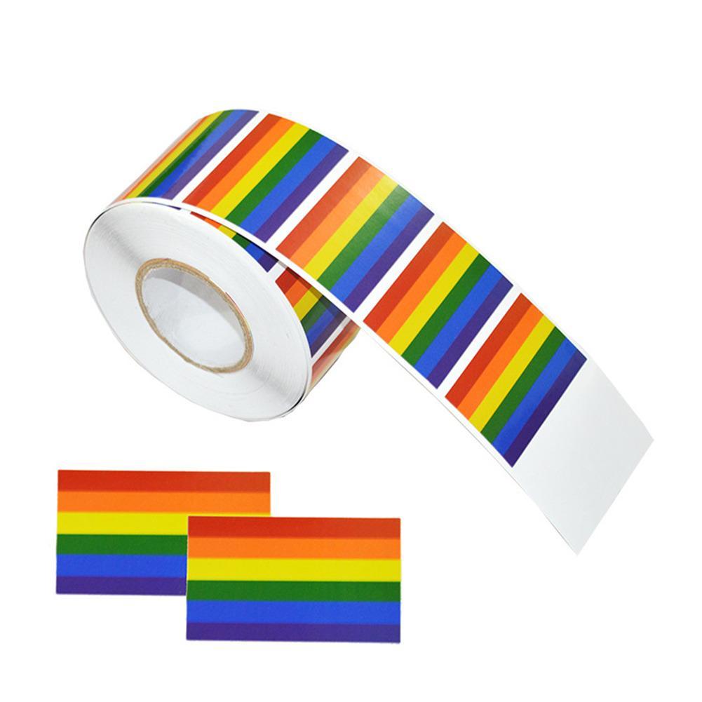 2018 новые наклейки на стену с радужным флагом, ЛГБТ, радужные наклейки на стену для одежды, геев, Значки для гордости, наклейки на тело лица
