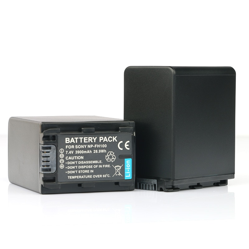 LANFULANG 2 PCS NP-FH100 NP FH100 Replacement Li-ion Battery For Sony DCR-SR62 DCR-SR85 DCR-SX30 HDR-CX505 HXR-MC1 HDR-UX20