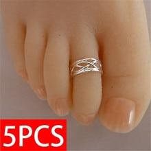 5PCS   Foot Ring Fashion Women Elegant Adjustable Antique Toe Ring, Foot Beach Jewelry