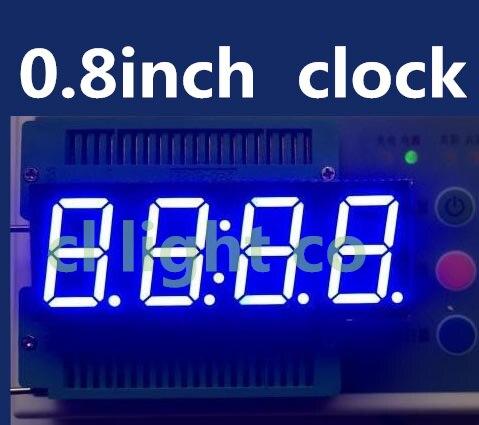"""Mejor Precio 0,8 pulgadas 7 segmentos 4 dígitos Super rojo 0,8 """"0.8in reloj tiempo LED pantalla cátodo común"""