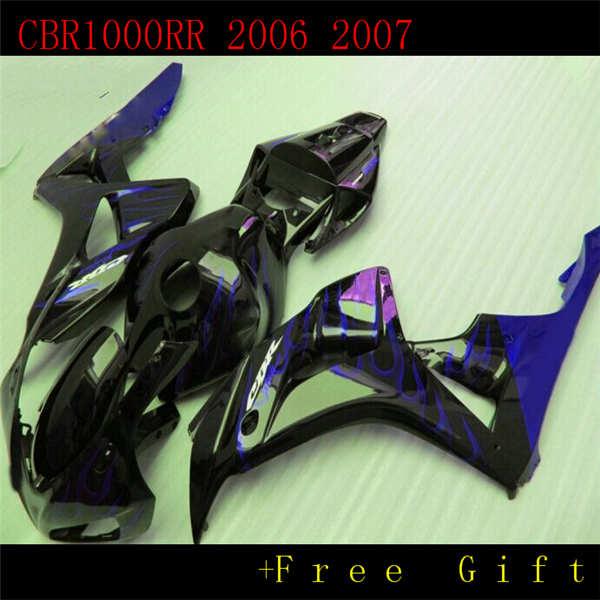 Moldeado carenados para CBR1000RR 06 07 azul negro kit de carenado CBR1000RR 2006 2007 ST66
