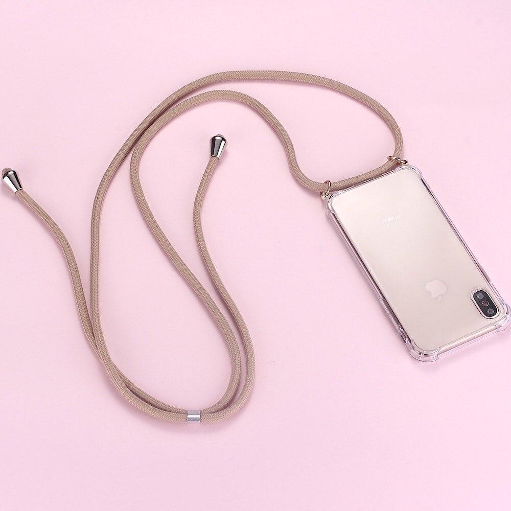 Correa cordón cadena teléfono Sexy Cordón de cadena funda de teléfono móvil para funda protectora de transporte para colgar para iPhone XS Max XR X 7Plus 8Plus 11 Pro Max