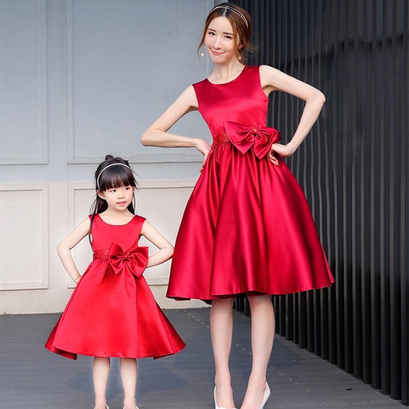 Madre hija vestidos de fiesta de noche vestido para madre e hija familia a juego vestido de novia ropa de la familia mirada mamá y yo