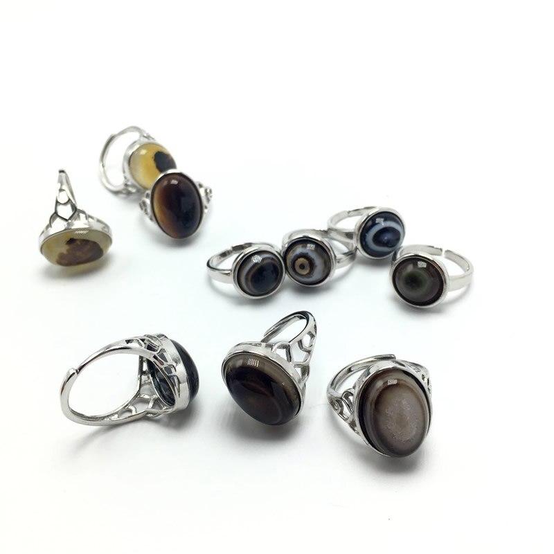 Anillo de ónix con diseño de bola de mal de ojo gótico para hombre, joyería de dedo Punk, regalo, anillos de acero inoxidable, joyería de moda para hombre