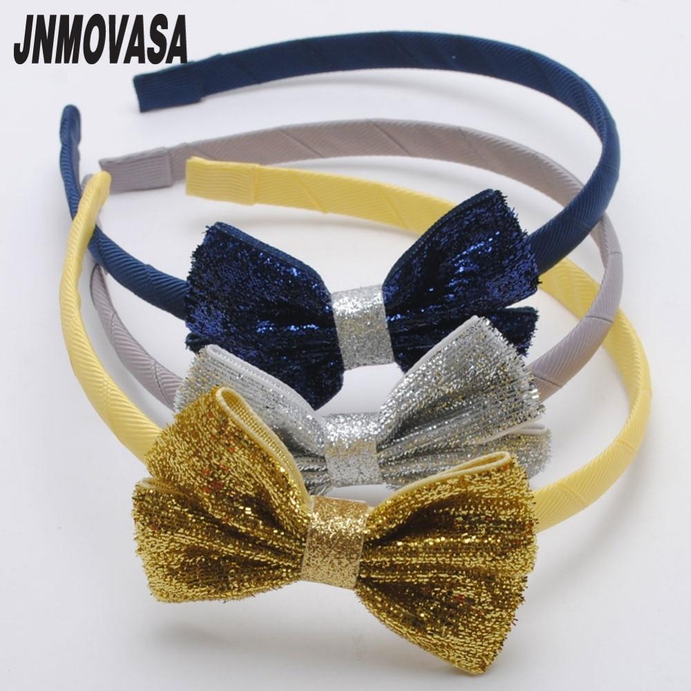 1Pc Glitter Hair Bands Hair Ribbon Bows Girls Hairbands Kids Headbands Girls Hair Hoop Boutique Tiara Hair Accessories For Girl