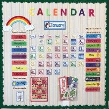 148 pz/set Data Mese di Vacanza Tempo del Calendario Da Parete Solare Termine di Tempo I Bambini imparano Inglese Carte di Gestione per I Bambini bts exo
