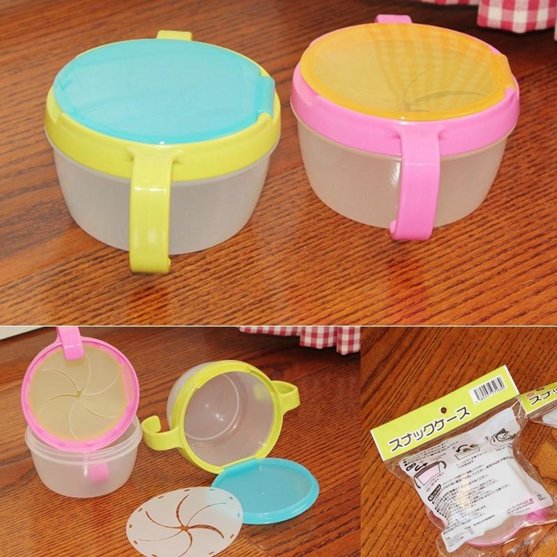 1 adet bebek yiyecek kutusu anti-dökülme çocuk aperatif gıda kaleci taşınabilir bebek yiyecek kasesi plastik gıda saklama kabı çocuk besleme öğrenme