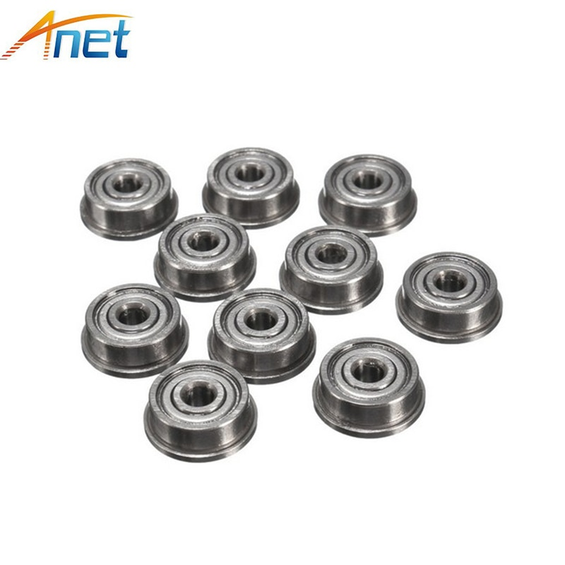 10PCS/lot 3D Printer Part Single Flange Bearings with Flange Ribbed Belt Bearing F623ZZ Small Bearings Miniature