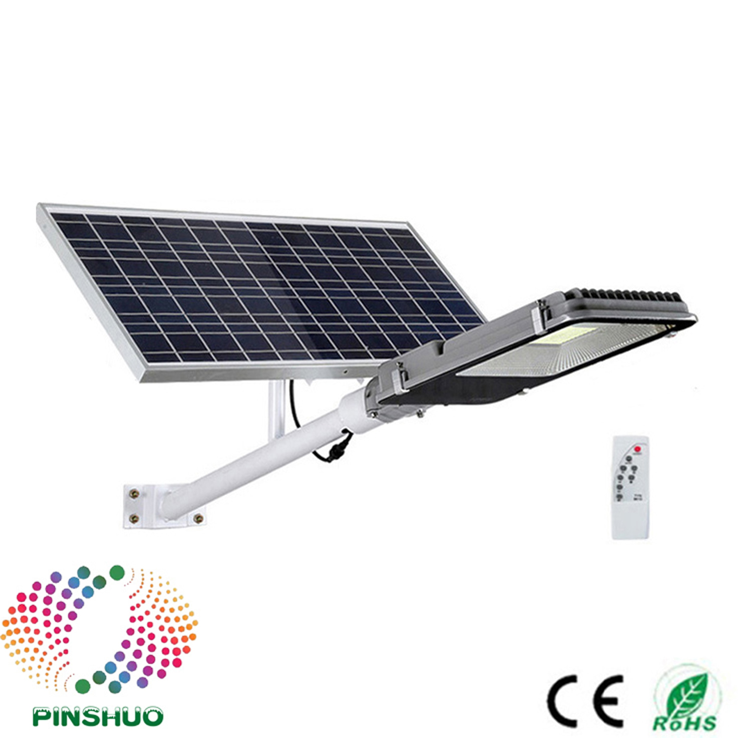 (4 unidades por lote) Garantía de 3 años, Sensor de movimiento remoto, luz LED de calle de 100W, Panel Solar, batería de jardín, lámpara de patio de carretera, carcasa gruesa