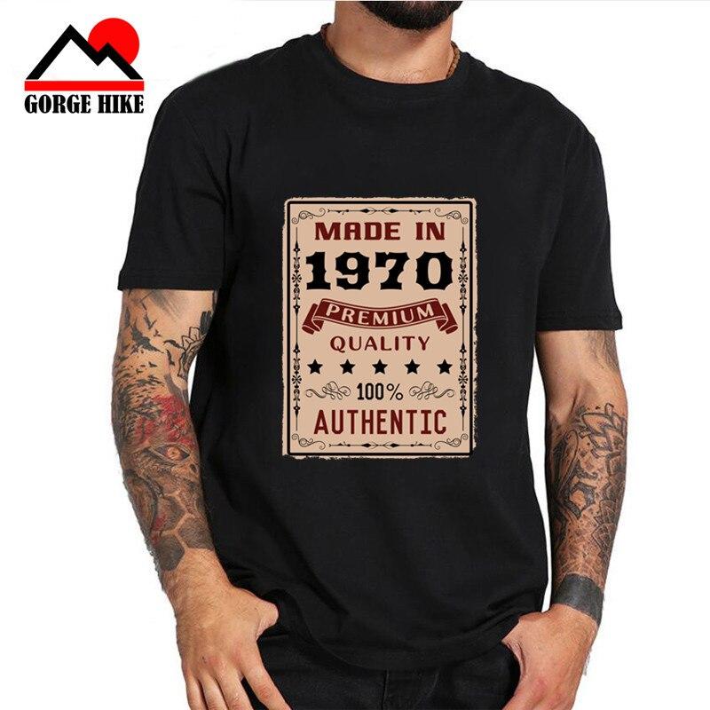 40 ° 50 cumpleaños regalo Vintage hecho en 1970 perfectamente hombres 70S Camiseta moda Camiseta 3XL algodón manga corta hombres