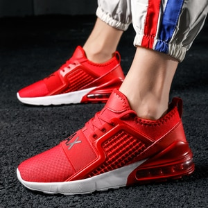 2019 Fashion Men's Non-leather Casual Shoes Breathable Lace Up Men Sneakers Flat Heel Air Cushion Sport Max Basket Shoes NX005