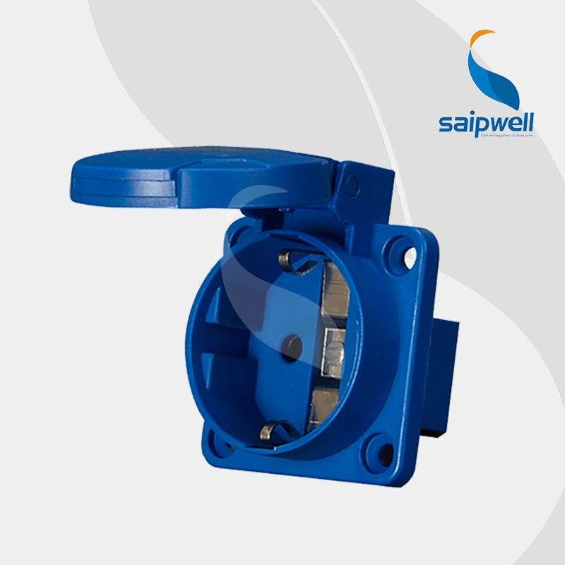 2014 cantidad exquisita CEE/IEC IP44 16A SCHUKO Socket SP-11011 envío gratis