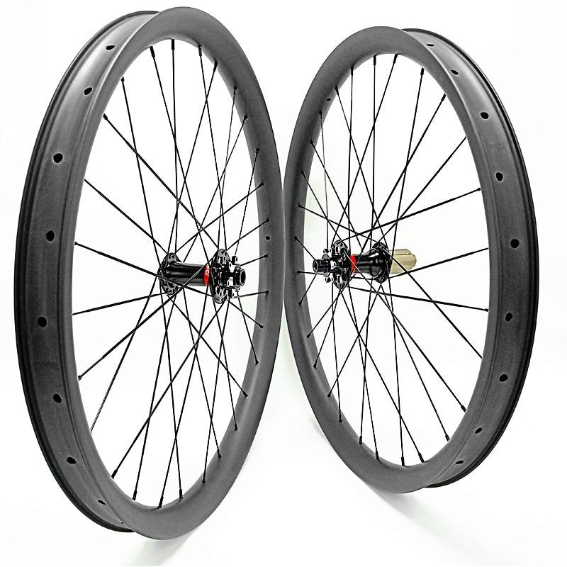 Ruedas de bicicleta de montaña 1780g carbono 40x28mm asimetría sin cámara 29er boost 148x12 110x15 mtb bicicletas ruedas disco de montaña juego de ruedas de bicicleta