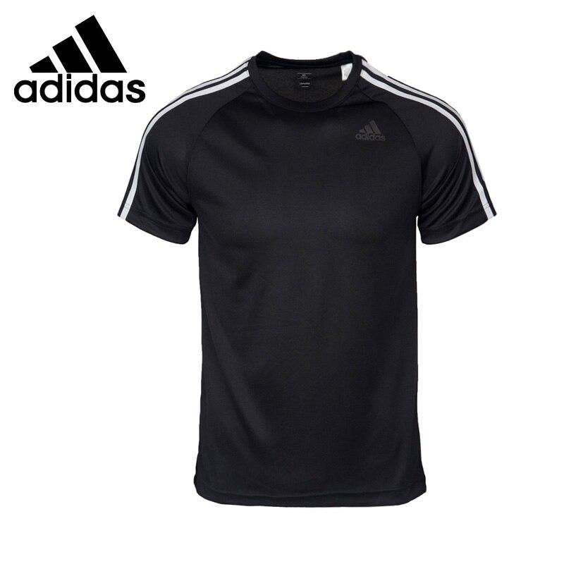 Nova chegada original adidas desempenho d2m t 3 s camisetas masculinas de manga curta roupas esportivas