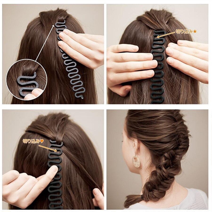Модные Волшебные волосы, оплетка, рыбий Бонд, волнистый инструмент, ролик с закручиванием волос, для укладки булочек