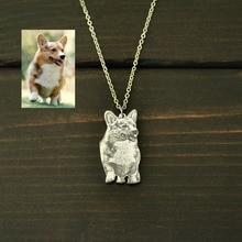 Collier Photo chien personnalisé, votre collier Photo pour animaux de compagnie, collier nom gravé personnalisé, bijoux commémoratifs pour animaux de compagnie, cadeau amoureux des animaux de compagnie