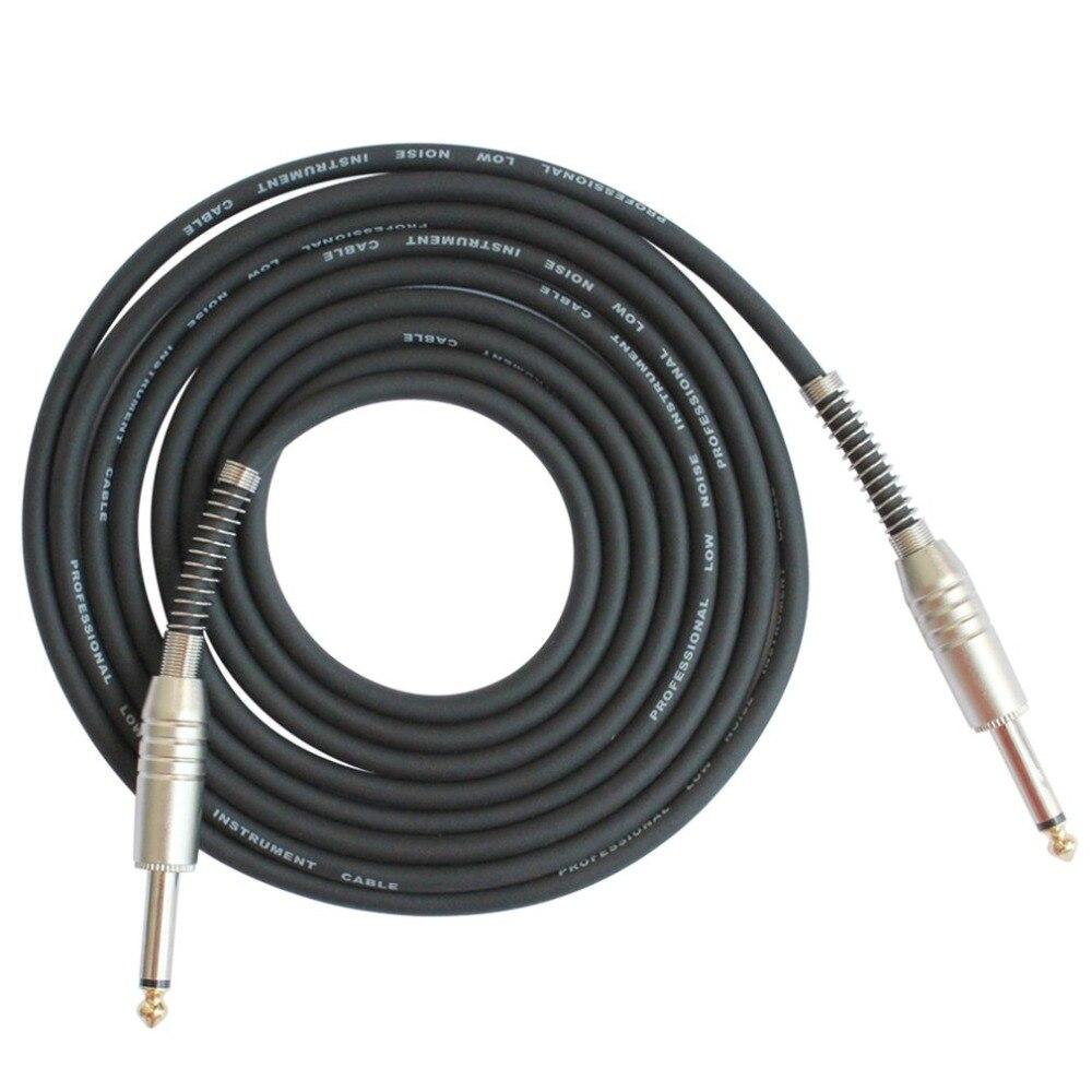 FLGW-24 Mono Jack Gitarre Kabel Audio Stecker auf Stecker Kabel Draht Schnur Gummi Kupfer 6,35mm Gerade Stecker Für Elektrische instrumente 15