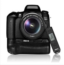 Meike MK-760D Built-In 2.4G Display LCD Telecomando Senza Fili Pro Battery Grip per Canon 750D 760D Rebel T6i T6s come BG-E18