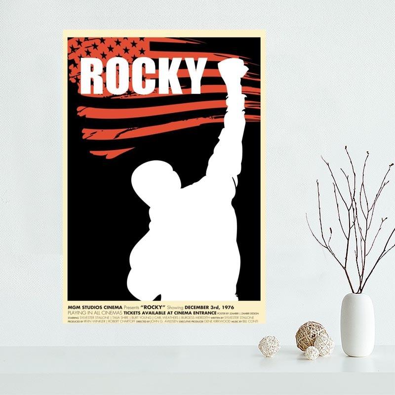 Lienzo personalizado Rocky Poster arte decoración póster tela pared Poster impresión tela seda & QAZ98K