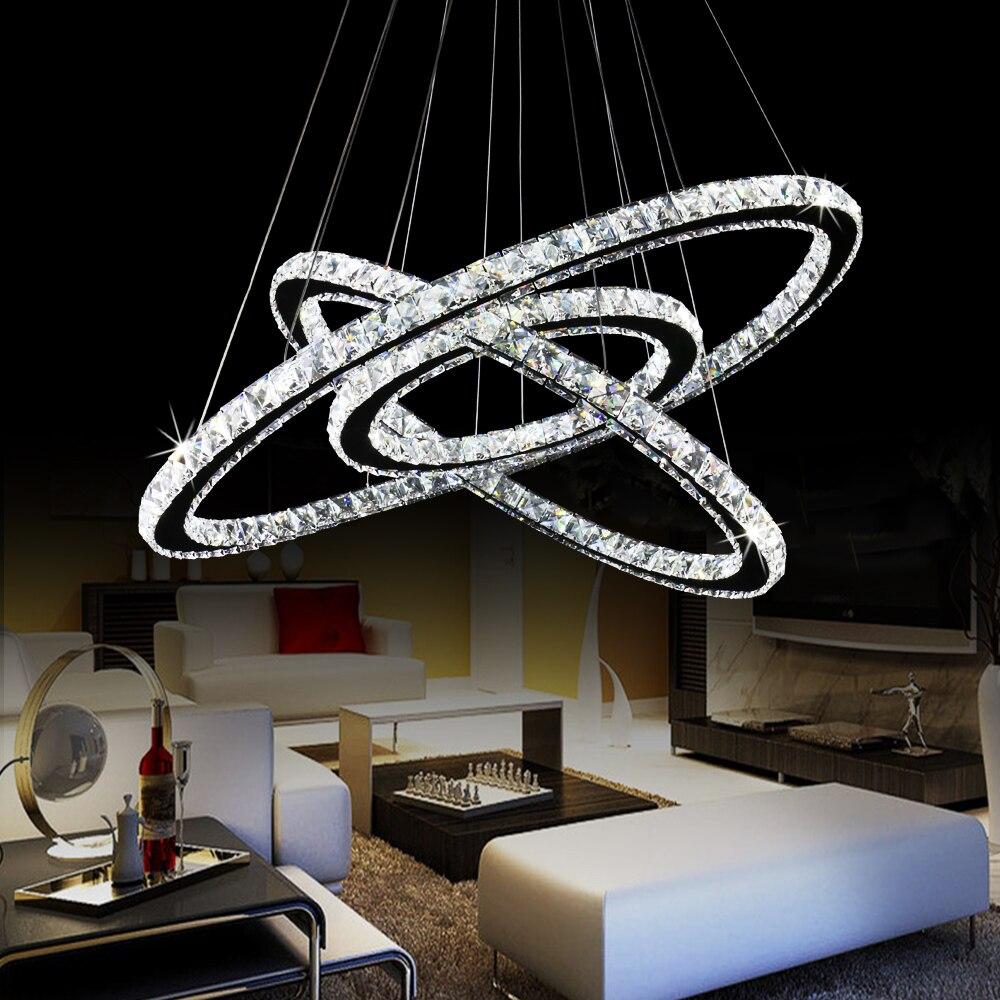 Lámpara De araña De cristal Led moderna, iluminación De Techo, lámparas De...
