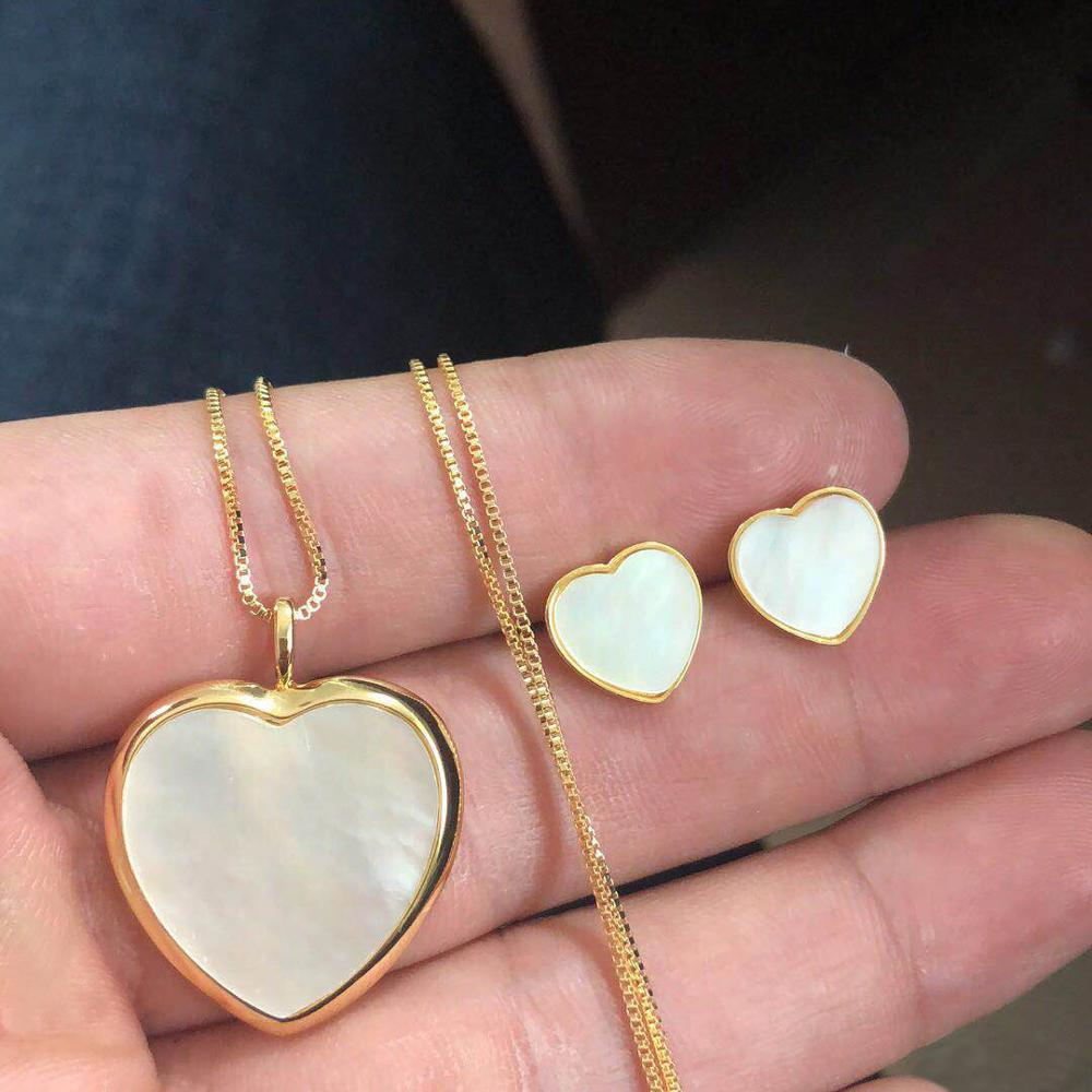 GODKI Charms Multicolor cristal corazón apilable collar pendiente conjunto completo circón cúbico mujer moda conjuntos de joyería 2019