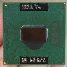Intel Pentium CPU pc portable Pentium M 770 pc portable, Cache 2M/2.13GHz/533/double Core, processeur 479, PM770, prise en charge de 915