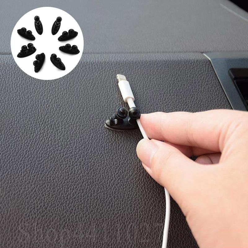 8 pcs Cabo Clipe 3D acessórios Etiqueta Do Carro styling Carro Para Kia sportage sorento optima alma forte ceed gt jd sw rio niro