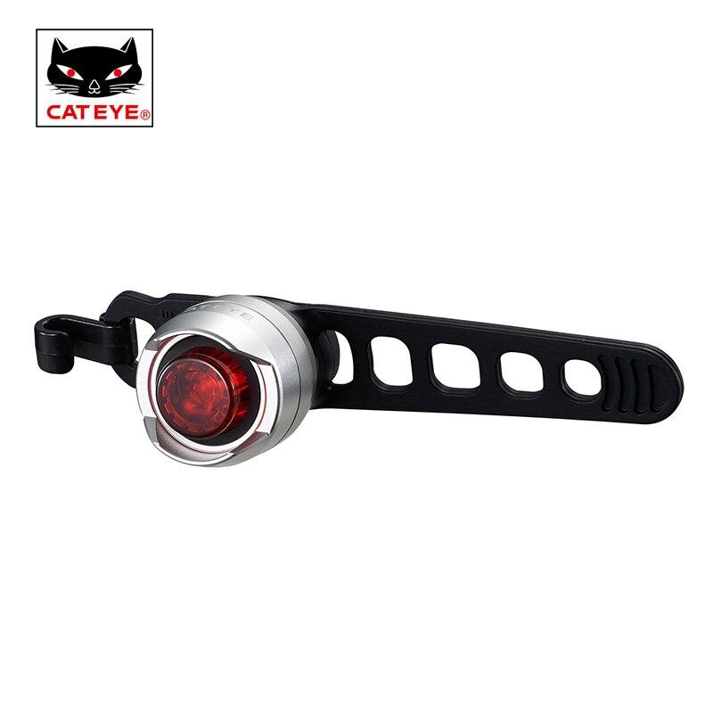 Cateye bicicleta luz da bicicleta ciclismo lâmpada traseira lanterna de segurança à prova dwaterproof água aviso correndo luzes dianteiras acessórios da bicicleta