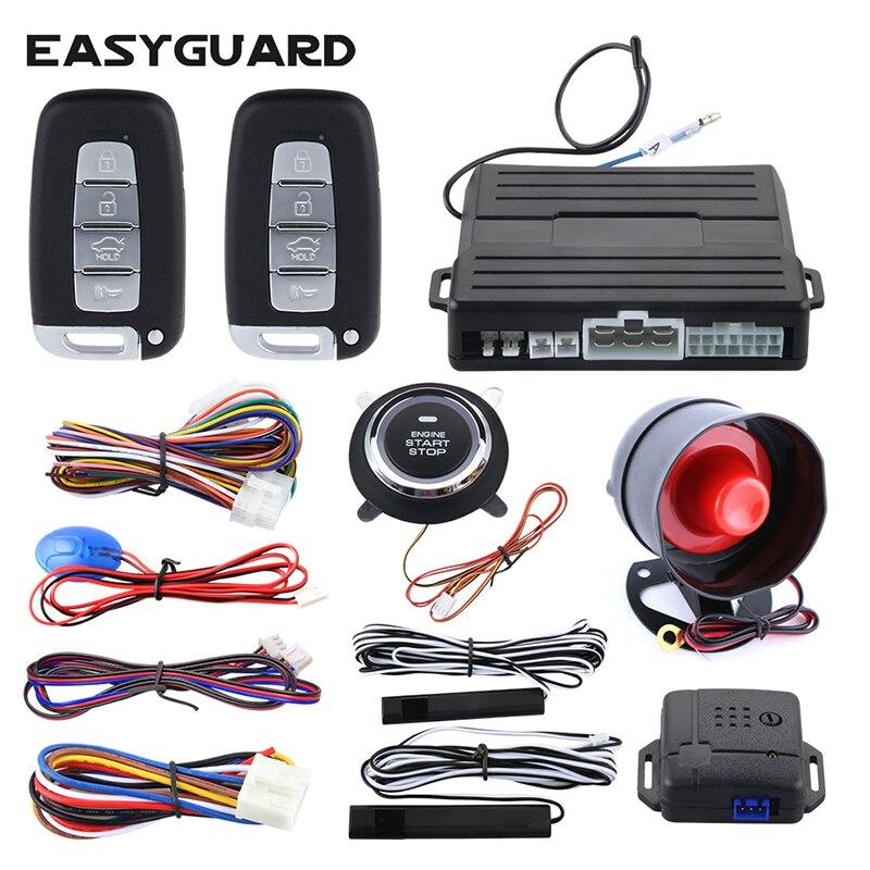 Easyguard auto alarm PKE passive keyless entry push button starten auto starten remote motor start stop universal für dc12v ec007nk