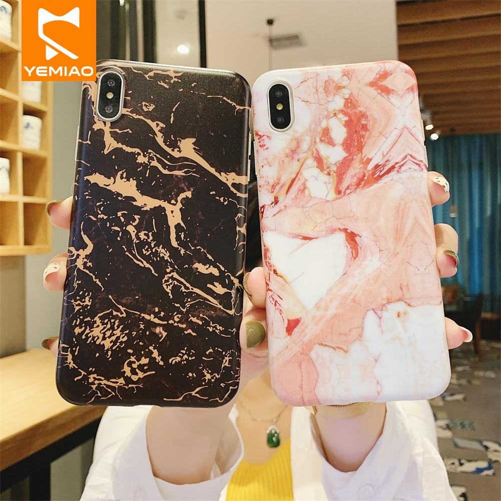 Funda de teléfono de mármol de lujo para iPhone X XS Max XR 7 8 Plus funda de silicona Delgada funda de Color clásico para iPhone 6 iPhone 6 s 6 S más, caso de