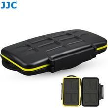 JJC stockage 8 x cartes SD caméra carte mémoire étui Compact résistant à leau boîte