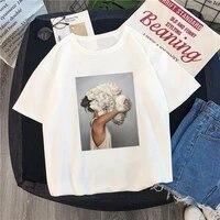 2021 beautiful shirt sexy flower feather print short sleeved shirt t shirt summer fashion kawaii casual sweet ladies t shirt a39
